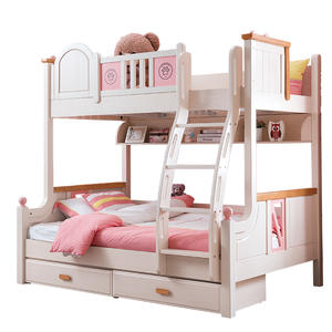 Latest Design Wood Children Bedroom Set Bunk Bed