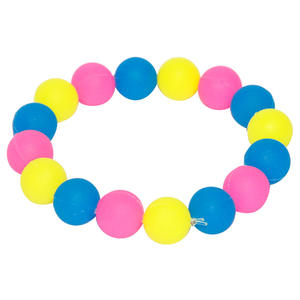 OEM low price Customized silicone bead bracelet manufacturing
