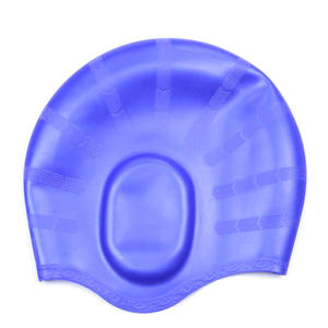 Customized Logo Printed Silicone Swimming Cap