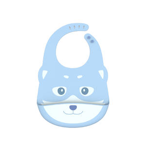 Wholesale Custom Foldable Waterproof Silicone Baby Bib