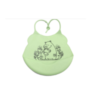 Customized Silicone Baby Bibs With Large Caliber