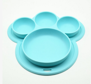 Customized BPA Free Wholesale Silicone Plates For Baby Feeding