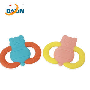 FDA food grade new design baby silicone teether bees
