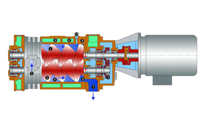 Installation method of rolling bearing in vacuum p