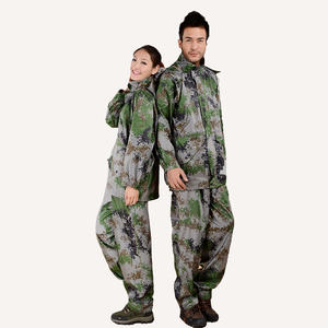 8503 Camouflage Waterproof Suit Womens Raincoat