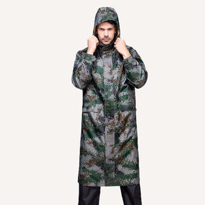 reusable high quality 7504 Camouflage Rain Coat Long Workwear design