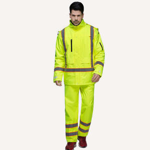 OEM PU Safety Cotton-padded Waterproof Suit Warm Waterproof Jacket price