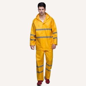 reflective wholesale 7242  Safety Waterproof Suit Mens Waterproof Jacket factory