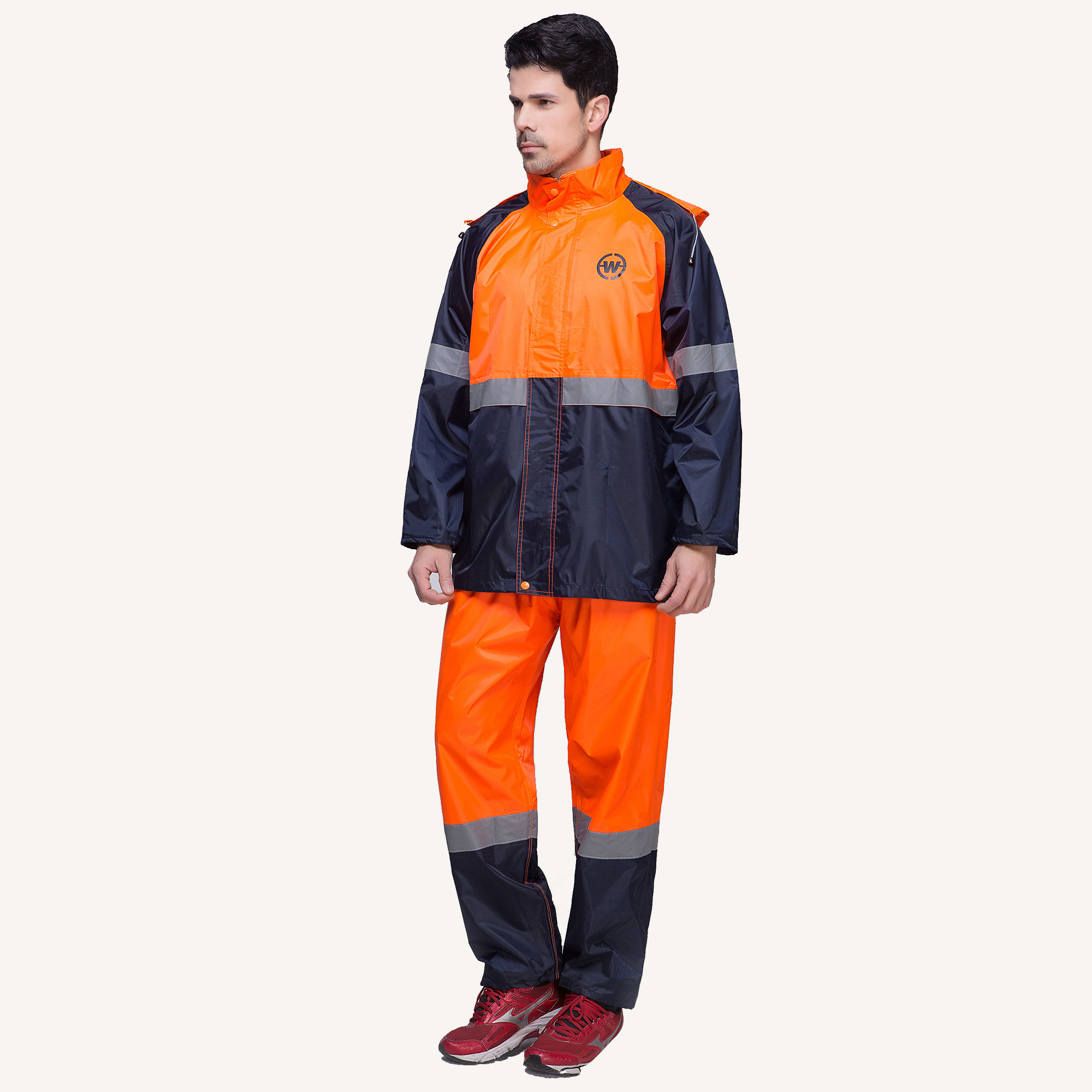 7052 Multicolor Safety Waterproof Anzug Beste Regenjacke