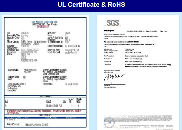 UL and RoHS certification