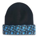 Reversible Printing Designs Custom Knitted Acrylic Beanie Cap