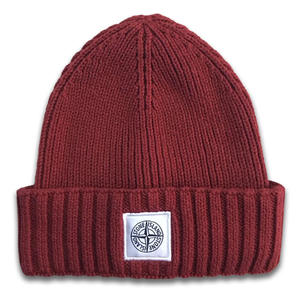 ODM custom Acrylic Embroidery Patch Winter Knit Beanie Hat exporters