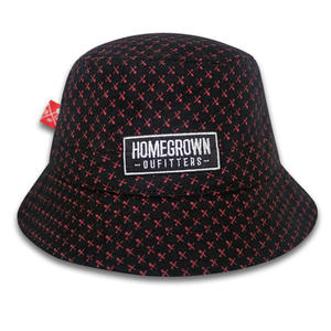 Factory Flat Embroidery Bucket Hat Custom Printed Fashion Bucket Caps