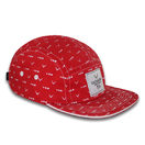 Fashion Custom New design Red 5 panels snapback hats camp caps