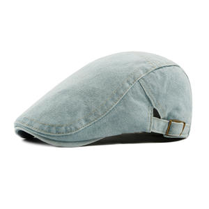 Wholesale Plain Denim Beret Ivy Cap For Men