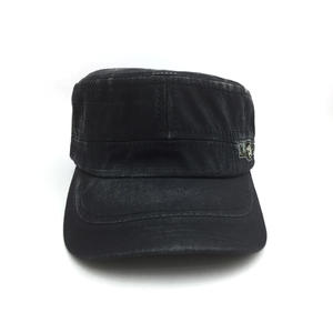 wholesale OEM hot sale 100 percent cotton embroidered flat top military caps