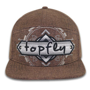 wholesale High Quality 3D Embroidery Custom Hemp Wholesale 7 Panel Snapback Hat
