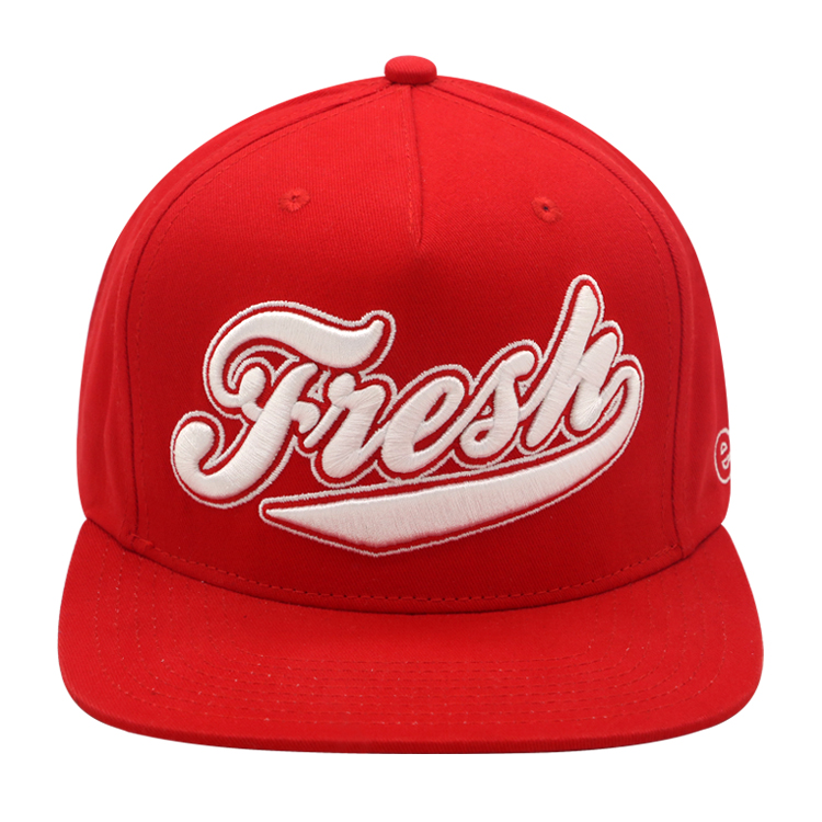 Wholesale Colorful 5 panel snapback cap custom 3D embroidery snapback cap