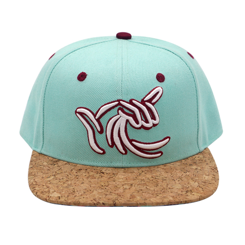 High Quality 6 Panel Custom Embroidery Cork Snapback Hat