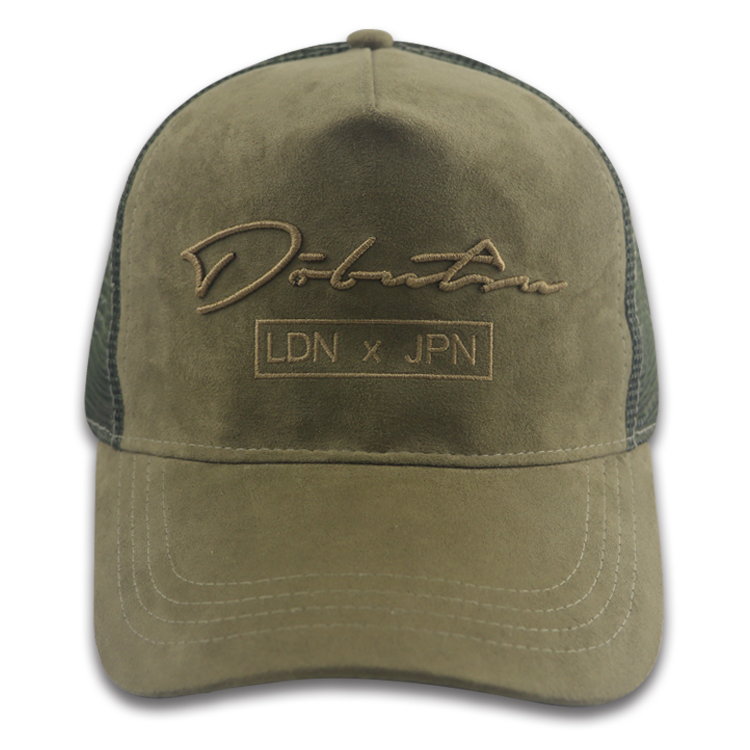 5 Panel Suede Trucker Hat Embroidered Logo Custom
