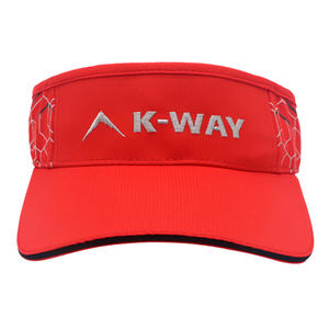 High Quality Embroidery Logo Sandwich Running Sport Sun Visor Cap Hat