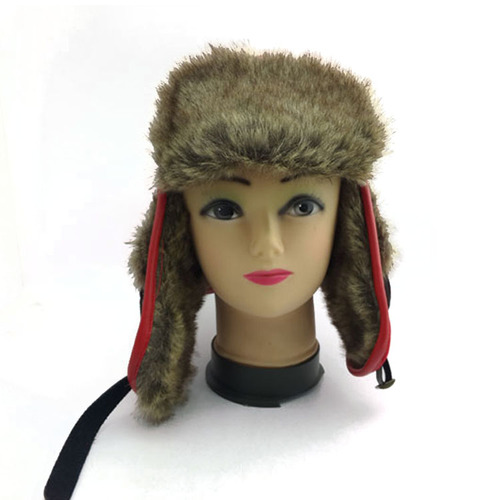 winter trapper hats soft plush faux fur unisex earflap winter hat
