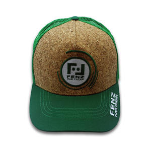 Adjustable Embroidery Logo Cork Trucker Cap Mesh