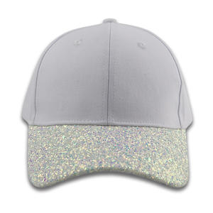 custom wholesale Custom Glitter Hat Baseball Cap Blank Baseball Cap