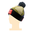 Wholesale Custom Woven Label Embroidery Beanie Hat With Fuzzy Ball