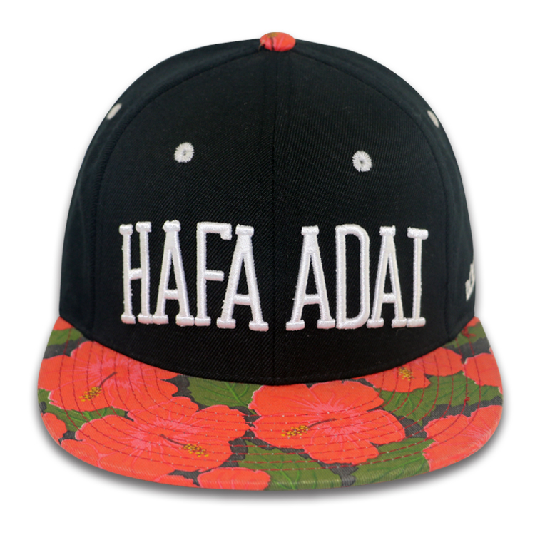 Floral Print 6 Panel 3D Stickerei benutzerdefinierte Snapback Caps Hip Hop Hut