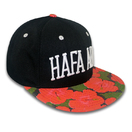Floral Print 6 Panel 3D Embroidery Custom Snapback Caps Hip Hop Hat