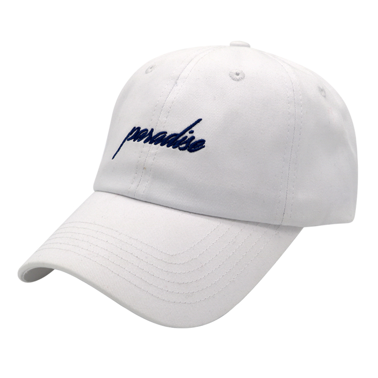 high quality custom embroidery unstructured baseball cap dad hat