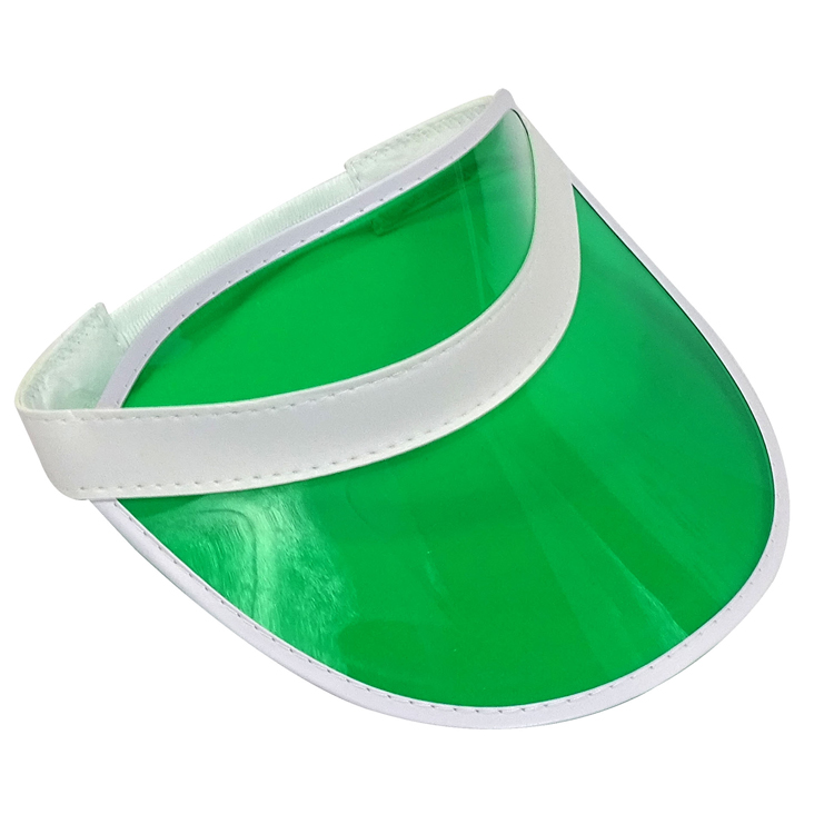 Colorful blank transparent PVC sun visor cap