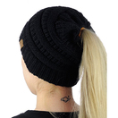 cutomized colorful ponytail beanie hat for women