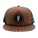 hot sale hawaii summer straw snapback trucker cap with woven patch