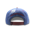 Jean snapback cap with embroidery logo ,3d embroidery cap , leather cap