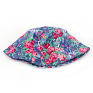 Fashion Floral Printing Wide Rim Flat Top Fisherman Bucket Hat