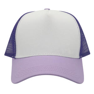 Wholesale Customized Colorful Cotton 5 Panel Children Trucker Cap
