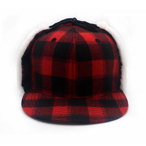 Custom Logo Ear Flaps Winter Sport Snapback Hat
