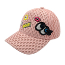 Adjustable Cute Embroidery Girls Mesh Cap Kids Baseball Cap