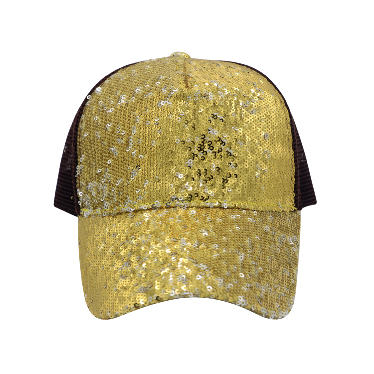 Reversible Magic Sequin Glitter Hat Correa ajustable 5 Panel Baseball Cap para Mujeres