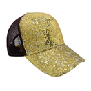 Reversible Magic Sequin Glitter Hat Adjustable Strap 5 Panel Baseball Cap for Women