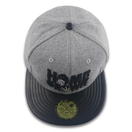 Melton Wool Flat Bill Adjustable Snapback Cap