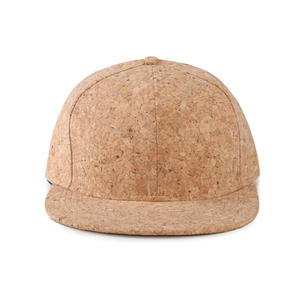 Flat Visor 6 Panel Cork Snapback Hat
