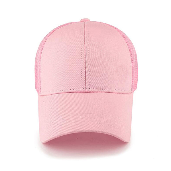 Adjustable Cotton Ponytail Mesh Trucker Baseball Cap