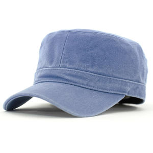 new design wholesale Flat Top Cotton Military Caps suppliers