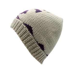 Knitted Winter Warm Beanies Hat With 3D Embroidery