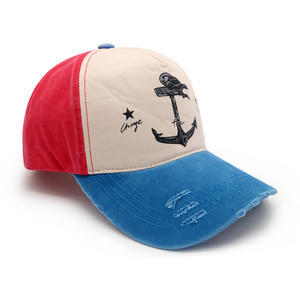 5 Panel Washed Cotton Baseball Cap For Men And Women