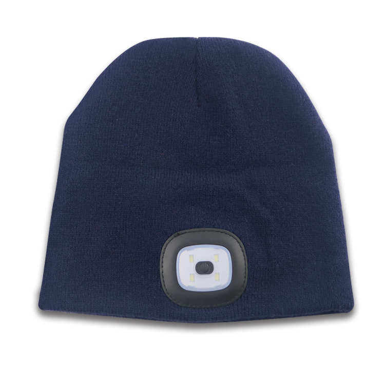 Carga por USB Safe Warm Customized LED Beanie Winter Hat