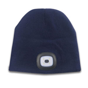 Charge By USB Safe Warm Customized LED Beanie Winter Hat